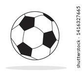 soccer ball icon. flat vector... | Shutterstock .eps vector #1416327665