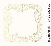 halloween square golden...   Shutterstock .eps vector #1416332582
