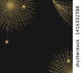 halloween realistic golden...   Shutterstock .eps vector #1416332588