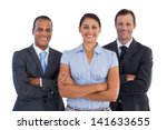 small group of smiling business ... | Shutterstock . vector #141633655