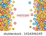 vector flat design modern emoji ... | Shutterstock .eps vector #1416346145