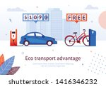 eco transport advantage.... | Shutterstock .eps vector #1416346232