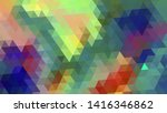 geometric design. colorful... | Shutterstock .eps vector #1416346862