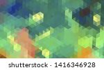 geometric design. colorful... | Shutterstock .eps vector #1416346928