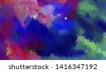 geometric design. colorful... | Shutterstock .eps vector #1416347192