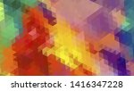 geometric design. colorful... | Shutterstock .eps vector #1416347228