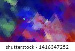 geometric design. colorful... | Shutterstock .eps vector #1416347252