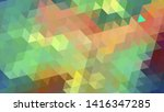 geometric design. colorful... | Shutterstock .eps vector #1416347285