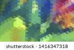 geometric design. colorful... | Shutterstock .eps vector #1416347318