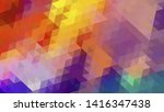 geometric design. colorful... | Shutterstock .eps vector #1416347438