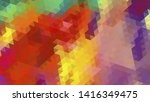 geometric design. colorful... | Shutterstock .eps vector #1416349475