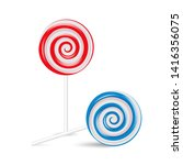 lollipop swirl set  colored... | Shutterstock .eps vector #1416356075