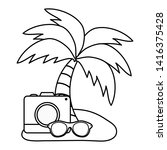 camera photographic with summer ...   Shutterstock .eps vector #1416375428