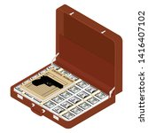 Brown Briefcase With Top Secre...