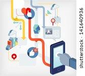 social network | Shutterstock .eps vector #141640936
