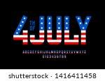 4th Of July Usa Flag Style Fon...