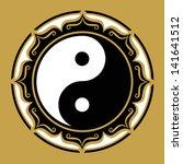 yin yang lotus  chinese symbol  ... | Shutterstock .eps vector #141641512