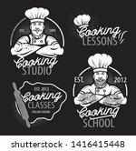 cooking vintage logo. cooking... | Shutterstock .eps vector #1416415448