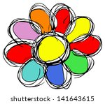 colorful flower silhouette | Shutterstock . vector #141643615