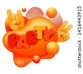 liquid abstract 3d figure....   Shutterstock .eps vector #1416443915