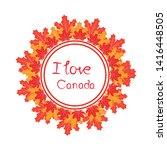 happy canada day vector... | Shutterstock .eps vector #1416448505
