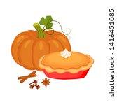 traditional american homemade... | Shutterstock .eps vector #1416451085