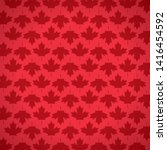 red maple leaves decoration... | Shutterstock .eps vector #1416454592
