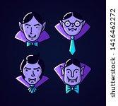 halloween character dracula... | Shutterstock .eps vector #1416462272