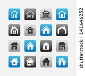 homepage icons | Shutterstock .eps vector #141646252