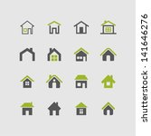house icon set | Shutterstock .eps vector #141646276