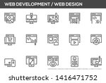 web development and web design... | Shutterstock .eps vector #1416471752