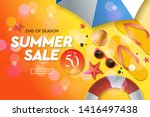 summer sale template  web... | Shutterstock .eps vector #1416497438