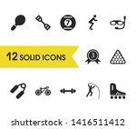 activity icons set with diving...