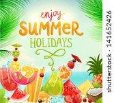 summer holidays vector... | Shutterstock .eps vector #141652426