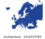 blue map of europe with... | Shutterstock .eps vector #1416525785