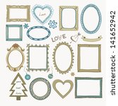 set of doodle frames and other... | Shutterstock . vector #141652942