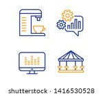 cogwheel  music making and... | Shutterstock .eps vector #1416530528