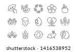 organic cosmetics line icons.... | Shutterstock .eps vector #1416538952