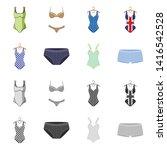 vector design of bikini and...   Shutterstock .eps vector #1416542528