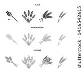 vector illustration of wheat...   Shutterstock .eps vector #1416542615