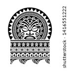 tribal tattoo maori tiki face... | Shutterstock .eps vector #1416551222