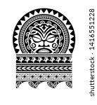 tribal tattoo pattern  art... | Shutterstock .eps vector #1416551228