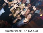 group of young people dancing... | Shutterstock . vector #14165563