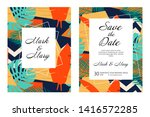 wedding invitation card save... | Shutterstock .eps vector #1416572285