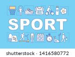 sport word concepts banner....