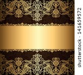 background with gold jewelry... | Shutterstock . vector #141659572