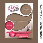 Vector Fashion brochure, flyer, magazine cover & poster template | Shutterstock vector #141660496