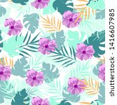 vector seamless pattern with... | Shutterstock .eps vector #1416607985