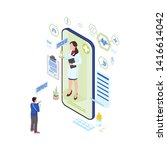 online medicine prescription...   Shutterstock .eps vector #1416614042