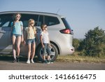 happy brother and his two... | Shutterstock . vector #1416616475